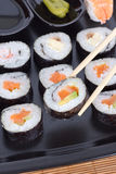 Ration sushi. En vertical shot Royalty Free Stock Photo