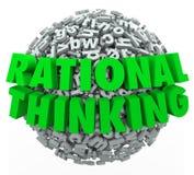 Rationele het Denken 3d Woorden Redelijke Zinnige Gedachte Stock Afbeelding