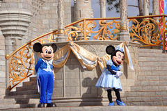 Ratón de Mickey y de Minnie en el mundo de Disney Fotos de archivo libres de regalías