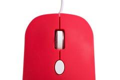Ratón rojo del ordenador Fotos de archivo