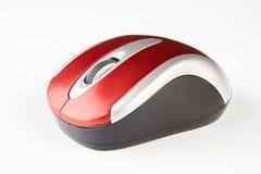 Rato ótico vermelho do computador fotos de stock