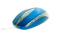 Rato azul do computador Fotos de Stock
