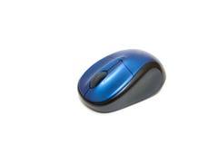Rato azul do computador Imagens de Stock