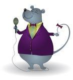 Rato-cantor ilustração royalty free