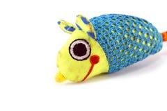 Rato colorido do brinquedo da tela isolado no branco fotografia de stock royalty free