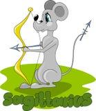 Rato com curva e setas ilustração royalty free