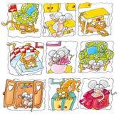 Rato com gato Imagens de Stock Royalty Free