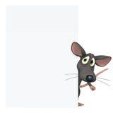 Rato com placa vazia Imagens de Stock