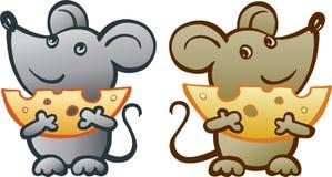 Rato com queijo ilustração do vetor