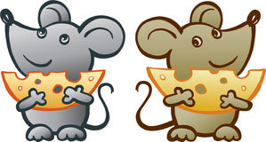 Rato com queijo Fotos de Stock Royalty Free