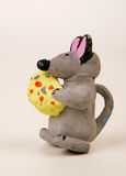Rato com queijo Fotografia de Stock