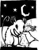 Rato de Huggy ilustração stock