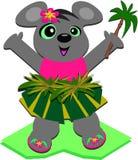 Rato de Hula com uma palmeira Foto de Stock