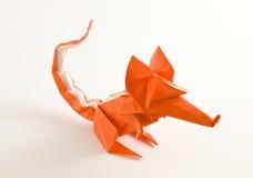 Rato de Origami Fotos de Stock Royalty Free
