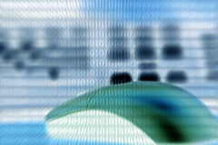Rato de Techno/teclado & código binário Imagens de Stock