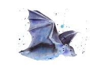 Rato de voo Dia das Bruxas Isolado Ilustração da aguarela Foto de Stock