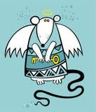 Rato do anjo do Natal Imagem de Stock Royalty Free
