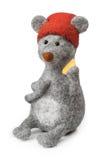 Rato do brinquedo com queijo Imagem de Stock Royalty Free