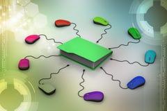Rato do computador com pasta de arquivos Imagem de Stock
