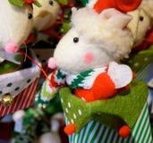 Rato do Natal Imagem de Stock Royalty Free