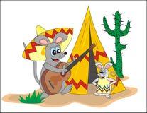 Rato e guitarra ilustração do vetor