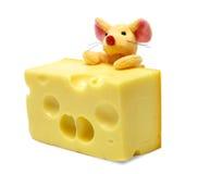Rato e queijo Imagem de Stock Royalty Free