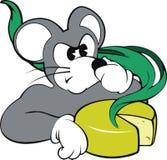 Rato e queijo smelly Imagens de Stock Royalty Free