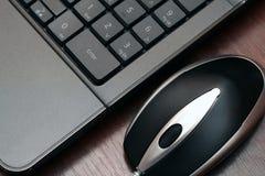 Rato e teclado prendidos Foto de Stock Royalty Free
