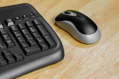 Rato e teclado pretos Imagens de Stock