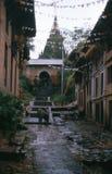 1975. Ναός Bungamati. Νεπάλ. Στοκ εικόνα με δικαίωμα ελεύθερης χρήσης