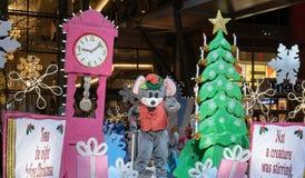 Rato na parada do Natal de Bellevue fotos de stock royalty free