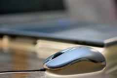 Rato na tabela empoeirada Fotografia de Stock