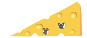 Rato no queijo Imagem de Stock