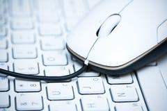 Rato no teclado Fotos de Stock