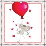 Rato pequeno em um balão de ar quente Fotografia de Stock
