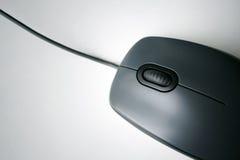 Rato preto do computador Imagens de Stock