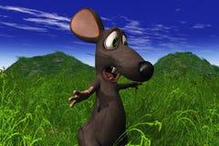Rato que olha choc em um campo Fotos de Stock Royalty Free