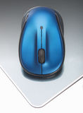 Rato sem fio azul Imagens de Stock Royalty Free
