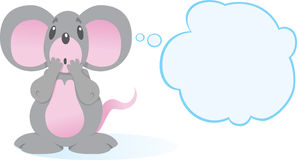 Rato terrificado Imagens de Stock