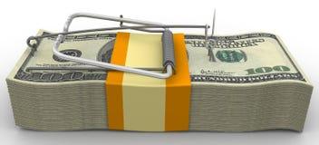 Ratoeira dos punhados de dólares americanos sem isca Fotografia de Stock Royalty Free