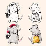 Ratones de la historieta Foto de archivo libre de regalías
