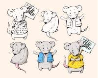 Ratones de la historieta Fotos de archivo