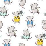 Ratones de la historieta stock de ilustración