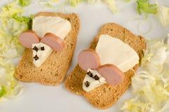 Ratones del queso Foto de archivo