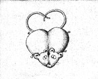 Ratones en amor Imagenes de archivo