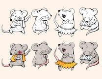 Ratos dos desenhos animados Imagens de Stock