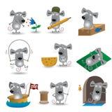 Ratos engraçados ajustados Imagem de Stock Royalty Free
