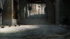 Ratos no pavimento de pedra velho ilustração do vetor