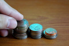 Ratować monetę Zdjęcia Stock