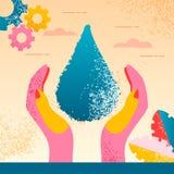 Ratować planety wodę ilustracji